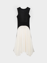 DKNY Mixed Media Contrast Dress