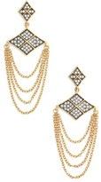 Freida Rothman Contemporary Deco Chain Drop Earrings