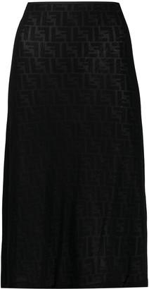 Zucca pattern straight skirt