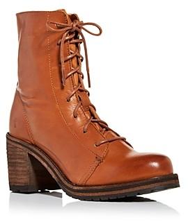 Frye Women's Karen High Block Heel Combat Boots