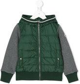 Moncler contrast panel hoodie - kids - Cotton/Polyamide - 4 yrs