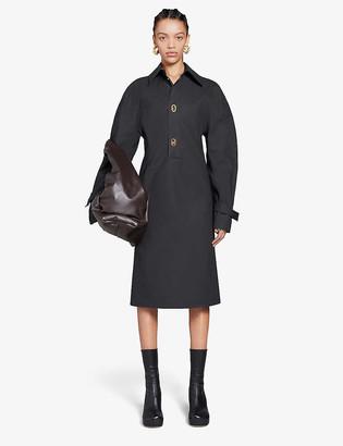 Bottega Veneta Technical-coated cotton-blend midi dress