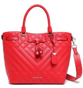 MICHAEL Michael Kors Blakely Logo-appliqued Quilted Leather Tote