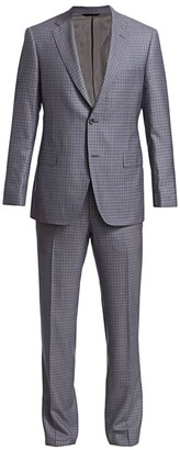 Saks Fifth Avenue COLLECTION BY SAMUELSOHN Classic-Fit Windowpane Suit