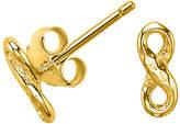 Dower & Hall Entwined Infinity Stud Earrings