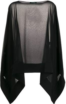 Lauren Ralph Lauren sheer asymmetric blouse