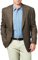 Haggar Tailored Sport Coat - Brown Tic Lambswool - Classic Fit
