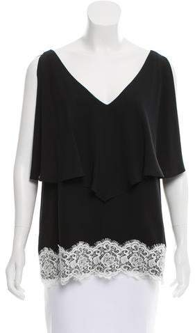 Derek Lam Lace Accented Sleeveless Top