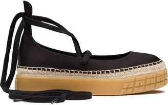 Prada lace-up ballerina shoes