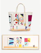 Sophie Hulme Rose Blake Art leather tote bag and framed print