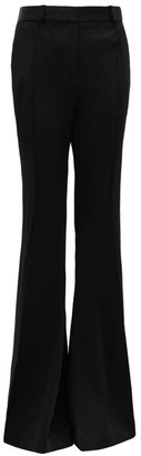KHAITE Stockard High-rise Satin Flared Trousers - Black