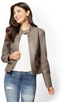 New York & Co. Zip-Front Moto Jacket