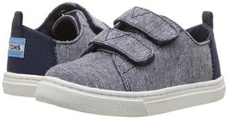Toms Kids Lenny (Infant/Toddler/Little Kid) (Navy Slub Chambray) Kid's Shoes