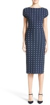 Lela Rose Women's Dot Knit Sheath Dress