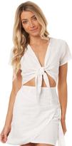 Reverse Womens Mykonos Wrap Dress White