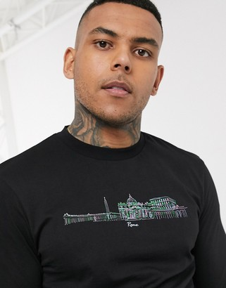Asos DESIGN long sleeve t-shirt with Italian skyline print