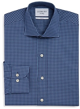 Ledbury Fairlee Gingham Slim Fit Dress Shirt
