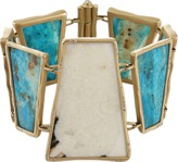MONIQUE PEAN Sunburst Walrus and Opalina Trapezoid Bracelet