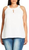 City Chic Plus Size Women's Lace Deluxe Shirt