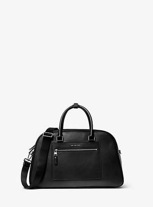 Michael Kors Hudson Pebbled Leather Bag - Black