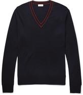 Dries Van Noten Contrast-Tipped Merino Wool Sweater