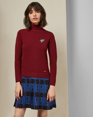 Ted Baker Woven Knit Check Dress