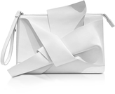 N°21 White Leather Clutch w/Iconic Bow On Front