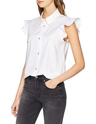 Love Moschino Women's Sleveeless College Shirt Blouse,12 (Size: )