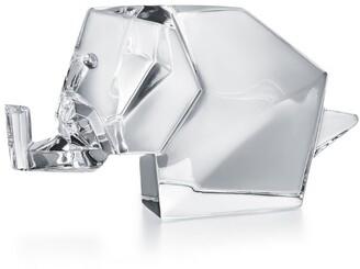 Baccarat Crystal Origami Elephant Ornament