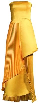 Flor Et. Al Edith Duchess Satin Strapless Gown
