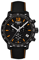 Tissot T095417360570 Quikster Chronograph Date Leather Strap Watch, Black