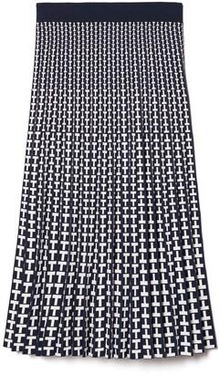 Tory Burch Pleated Jacquard Tech Knit Skirt