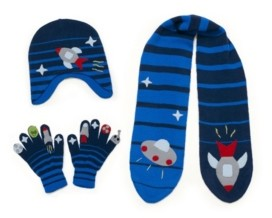 Kidorable Little and Big Boy Space Knitwear Set
