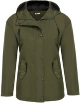 Meaneor Women Lightweight Hooded Raincoat Active Outdoor Waterproof Jacket XL