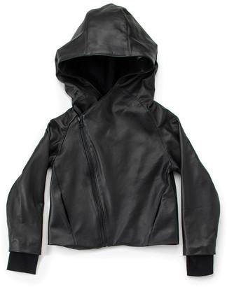 Nununu Hooded Leather Jacket