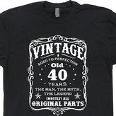 Shirtmandude T-Shirts L - 40th Birthday T Shirts 1976 Novelty Gag Gift Born in Vintage Funny Mens Shirtmandude