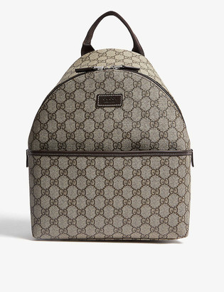 Gucci Kids GG Supreme coated canvas backpack