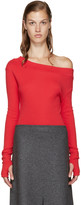 Jacquemus Red Single-Shoulder T-Shirt