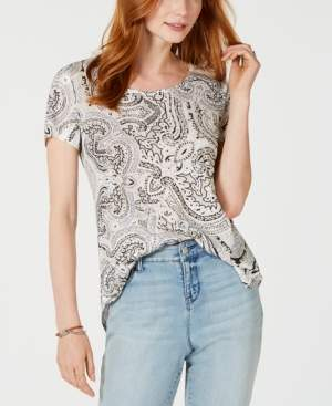 Style&Co. Style & Co Petite Printed T-Shirt, Created for Macy's