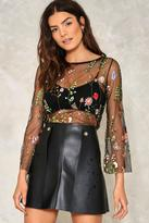 Nasty Gal nastygal Garden of Serenity Vegan Leather Skirt