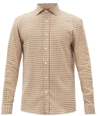 Ralph Lauren Purple Label Checked Cotton-flannel Shirt - Brown Multi