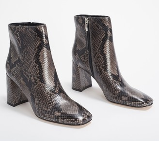 Marc Fisher Leather Ankle Boots - Fellie