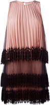 Christopher Kane pleated tulle mini dress - women - Silk/Nylon/Polyester/Polyimide - 42