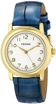 Pedre Women's 0231GX Gold-Tone with Antique Blue Strap Watch