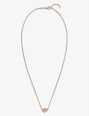 Chaumet Liens Séduction 18ct rose-gold and 0.4ct brilliant-cut diamond pendant necklace