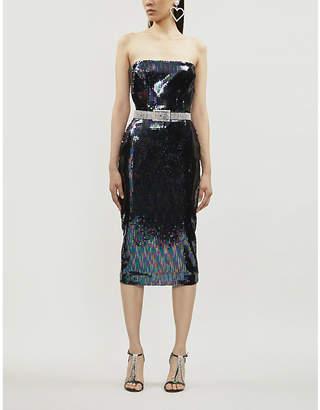 Alex Perry Mila strapless sequinned mini dress