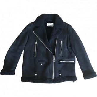 Acne Studios Navy Shearling Jacket for Women