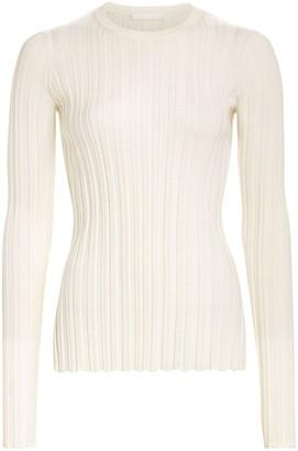 Helmut Lang Ribbed Wool Crewneck Sweater
