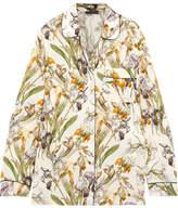 Alexander McQueen Floral-print Silk Crepe De Chine Shirt