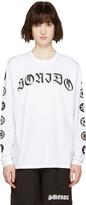 Marcelo Burlon County of Milan White Oscar Long Sleeve T-shirt